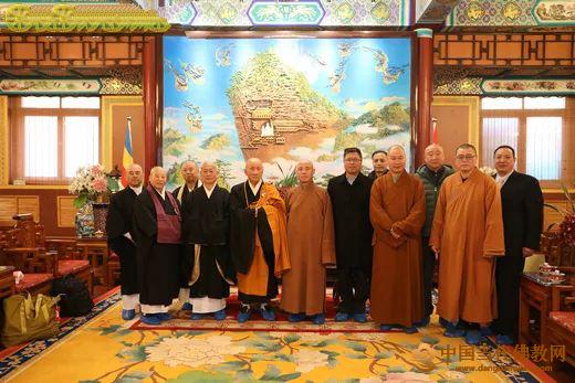 中日佛教友好使者则竹秀南一行拜访中国佛教协会