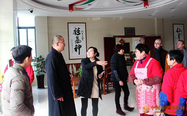 柯桥安康寺常智法师一行春节慰问金色年华福寿院
