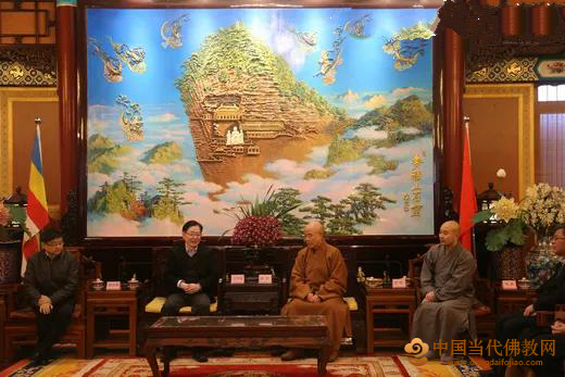 中央统战部王作安副部长带队走访慰问中国佛教协会