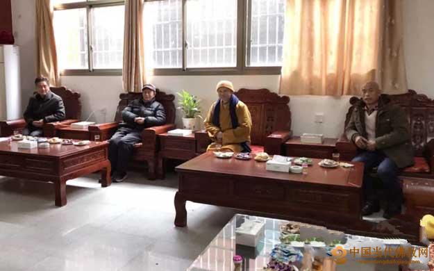 赣州大余县佛教协会副会长吴世平到寿量古寺商谈办班事宜